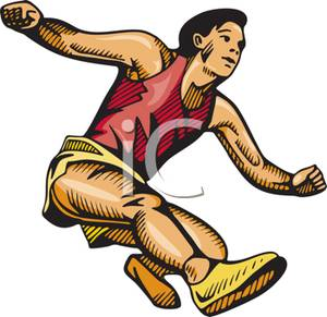 A colorful cartoon of. Athletic clipart athletics event
