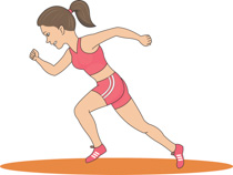 Free cliparts download clip. Athletic clipart female athlete