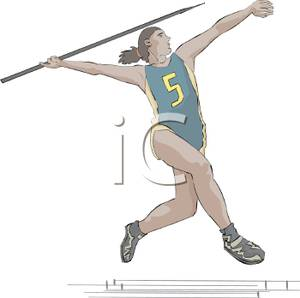 Athletic clipart athletics event. An athlete competing in
