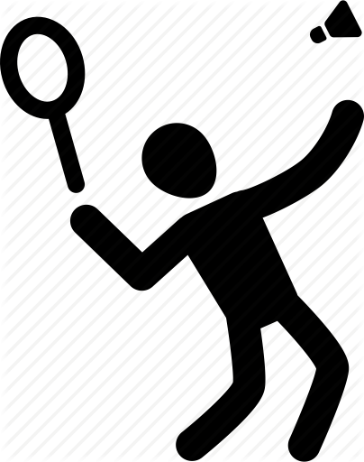 Silhouette at getdrawings com. Athlete clipart badminton