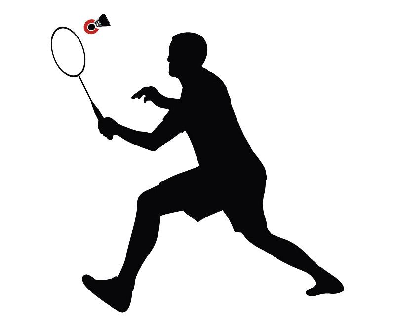 Our range coma sport. Athlete clipart badminton