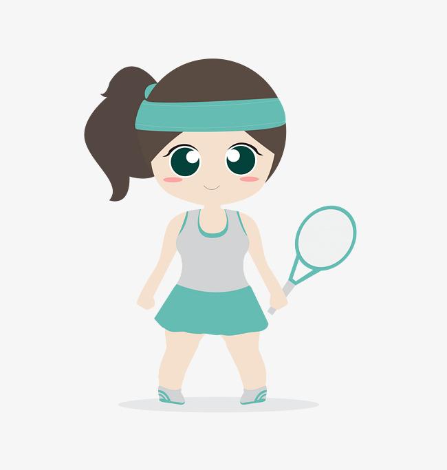 Athletic clipart female athlete. Badminton players cartoon athletes