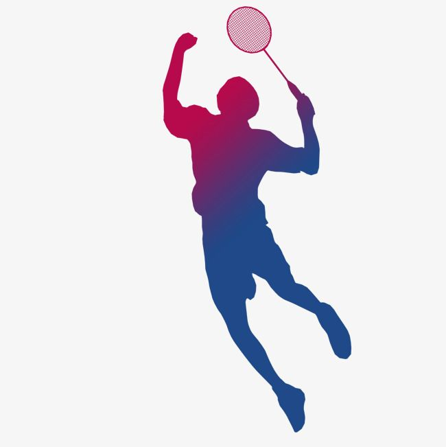 Athlete clipart badminton. Playing silhouette game player