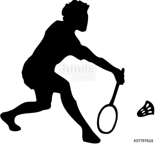 Player stock photo and. Athlete clipart badminton