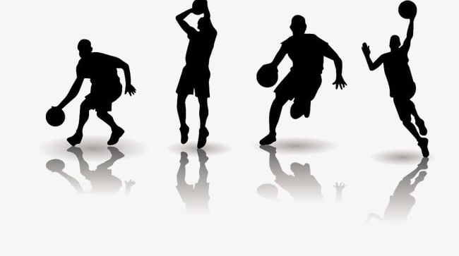 Players silhouette png athlete. Basketball clipart basketball player
