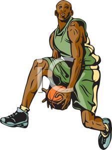 Athlete clipart basketball. A colorful cartoon of