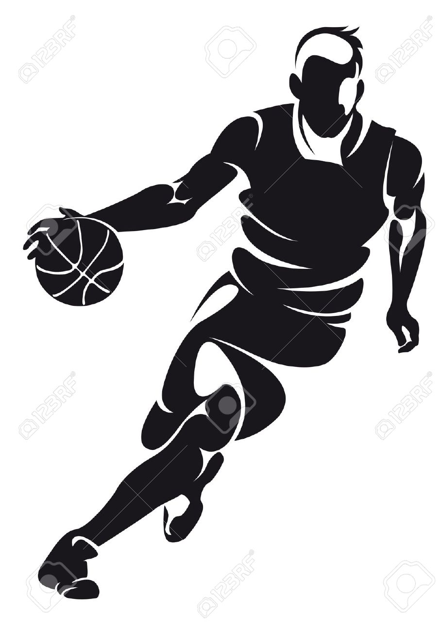 collection of player. Athlete clipart basketball