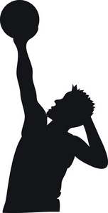 Athlete clipart basketball. Image player shooting or