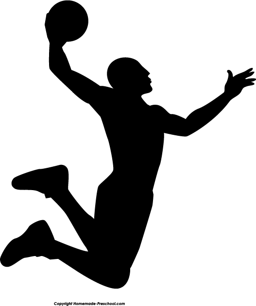 Fun and free ready. Basketball clipart silhouette
