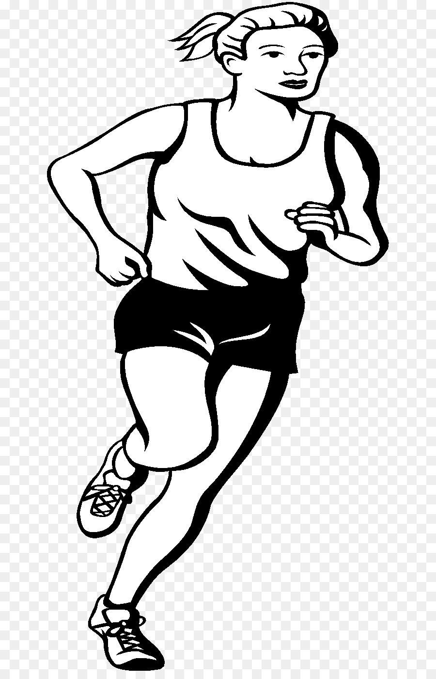 Athletic clipart black and white. Clip art athlete sports