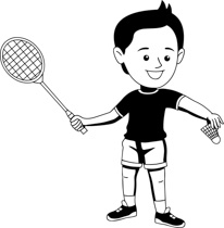 Free sports outline clip. Athletic clipart black and white