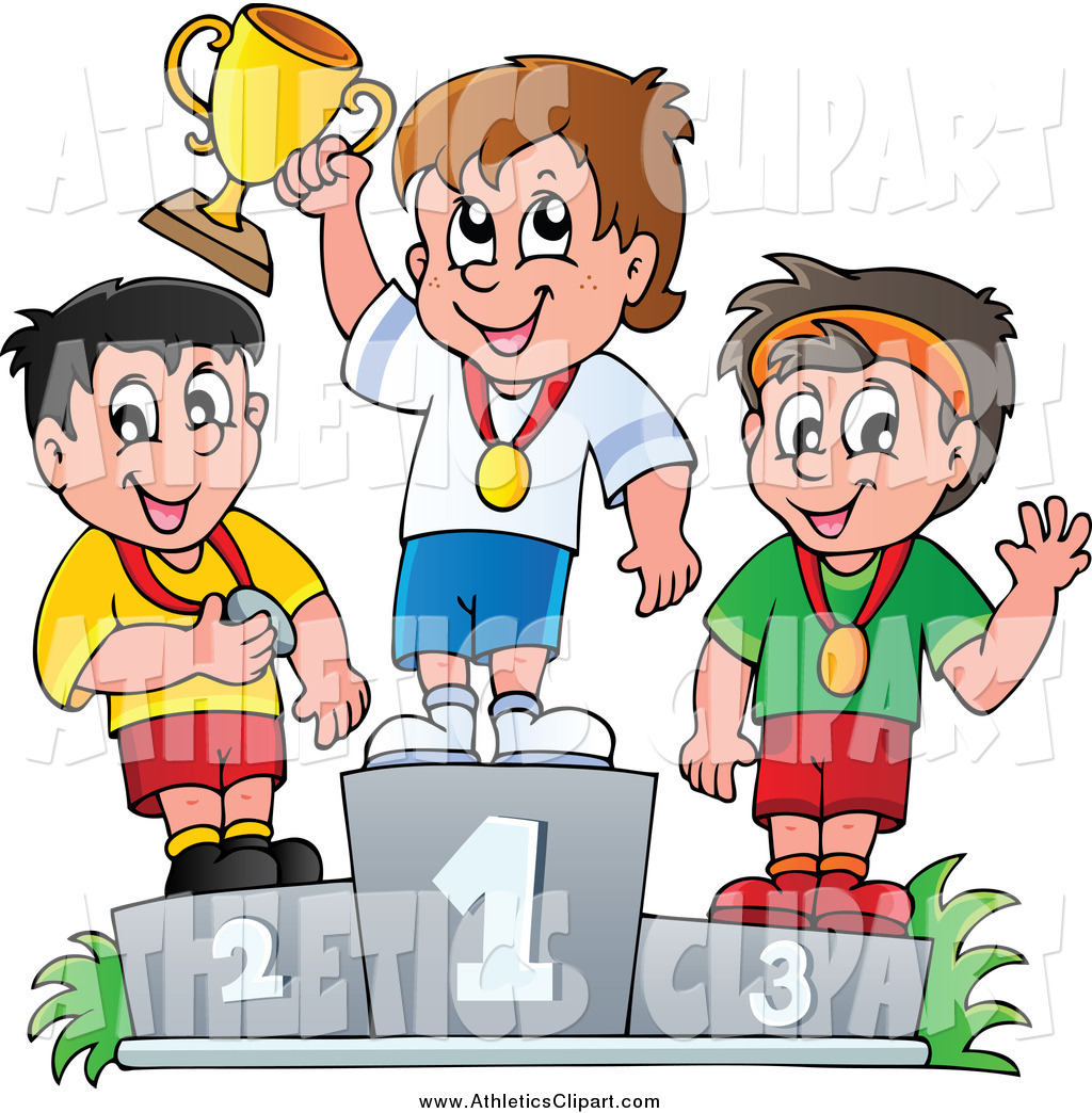 Sport child athletics pencil. Race clipart first winner