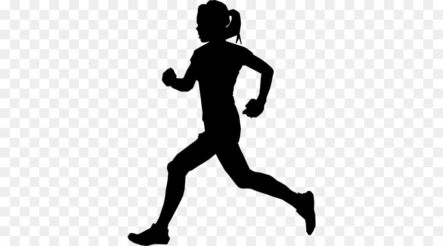 Person cartoon sports running. Athletic clipart silhouette