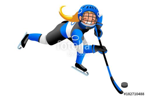 Athlete clipart competition. Ice hockey vector cartoon