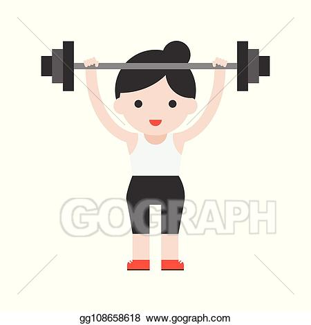 Athlete clipart cute. Vector character weightlifter with