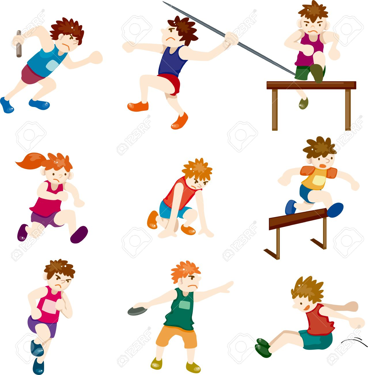 Winning kid pencil and. Athlete clipart cute