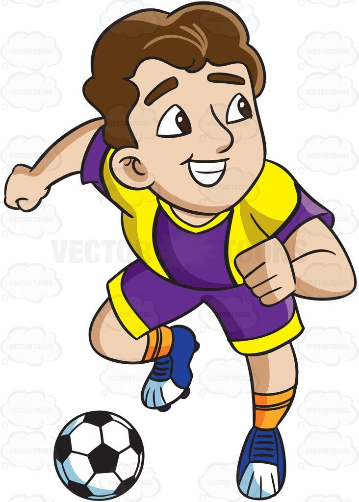 Athlete clipart cute. A male soccer charges