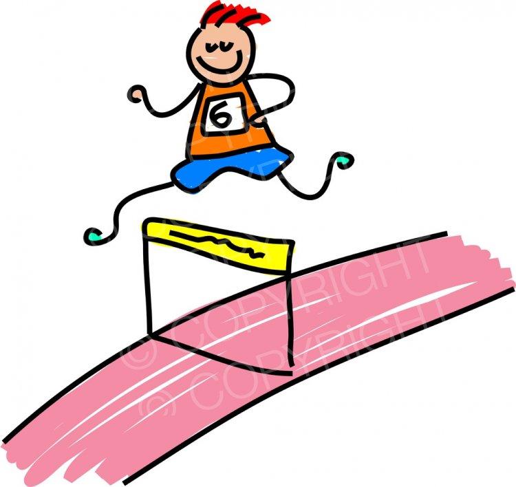 Toddler art athlete boy. Athletic clipart cute
