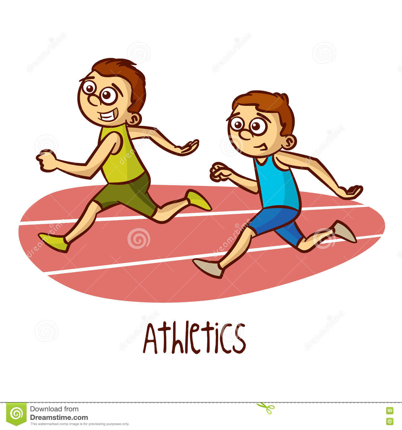 Athletic clipart exercise. Winning kid athlete pencil