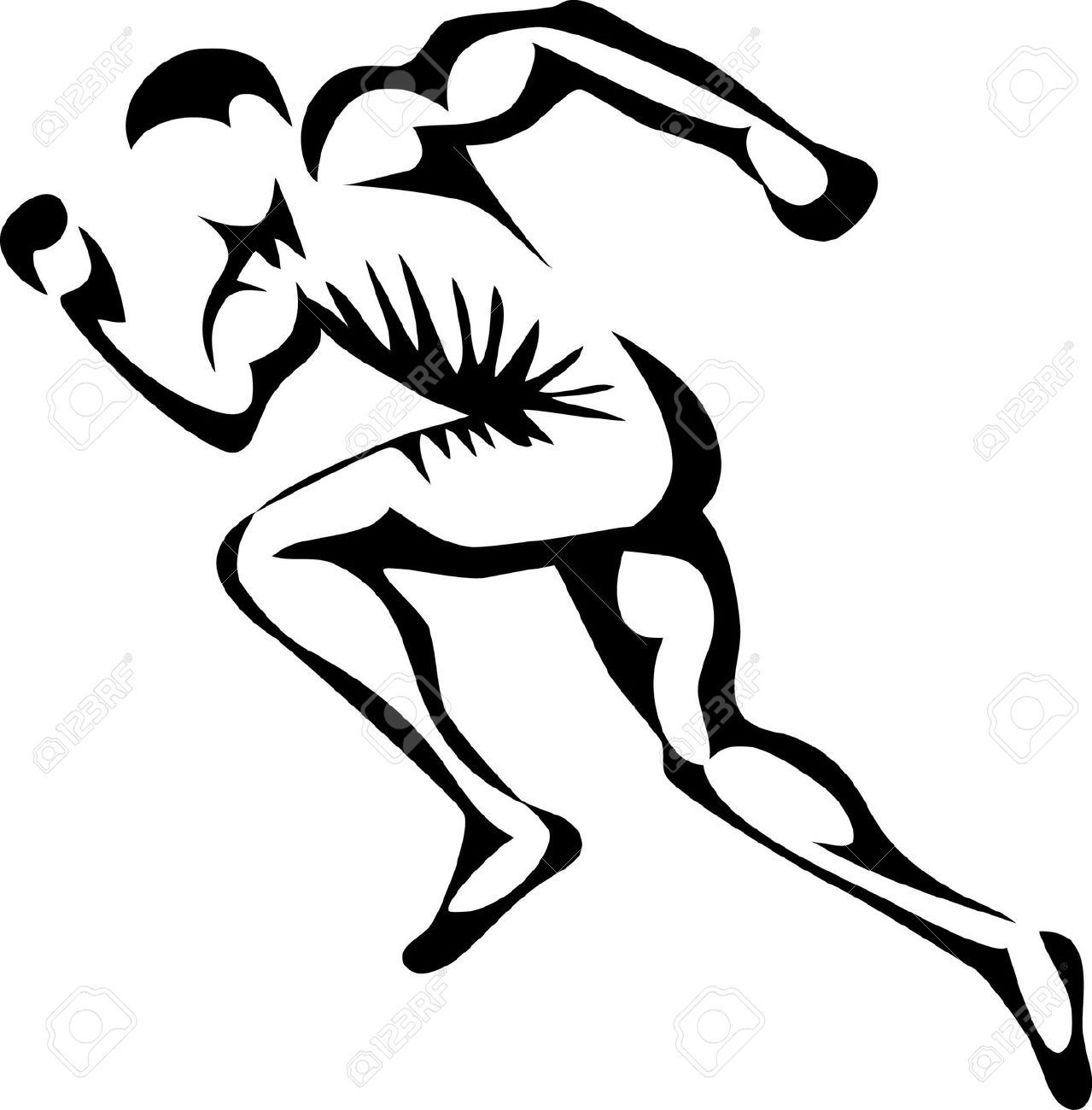 Athletic clipart runner. Silhouette clip art at