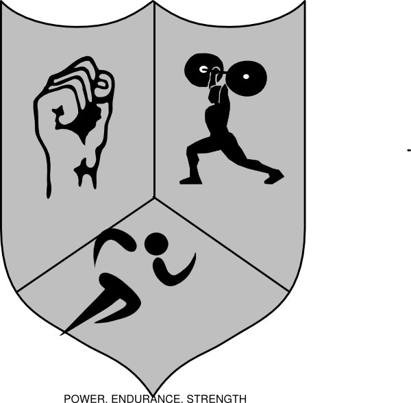 Athletic shiled clip art. Fist clipart strength