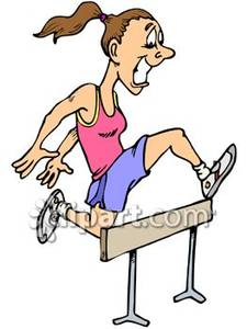 Cartoon of a jumping. Athlete clipart female athlete