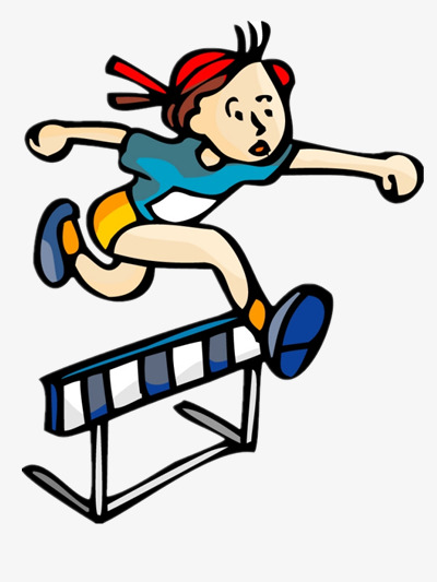 Athlete clipart female athlete. Hurdle png image material
