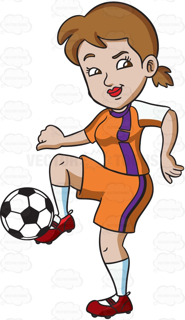 Athlete clipart female athlete. A dribbling the ball