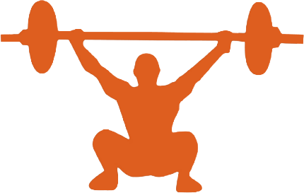 Driven athletic performance barre. Athlete clipart fitness