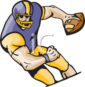 An athlete playing royalty. Athletic clipart football