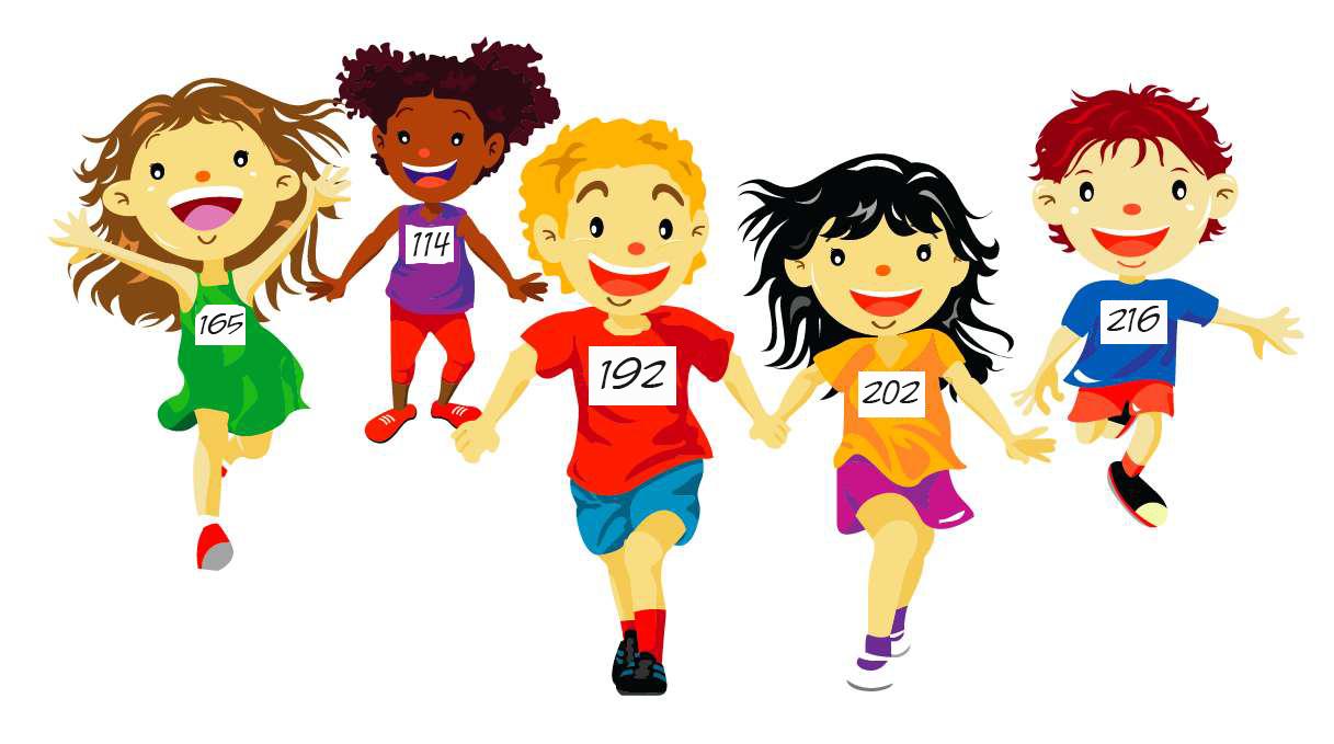 Trc kids run the. Race clipart group runner