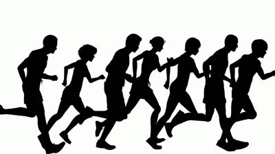 Race clipart group runner. Free running together cliparts