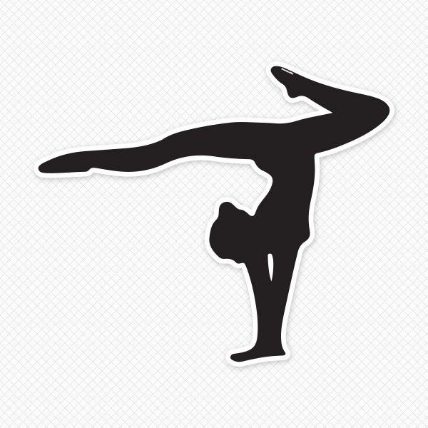 Bridge clipart gymnastics. Silhouette wall decal clip