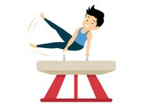 athlete clipart gymnastics