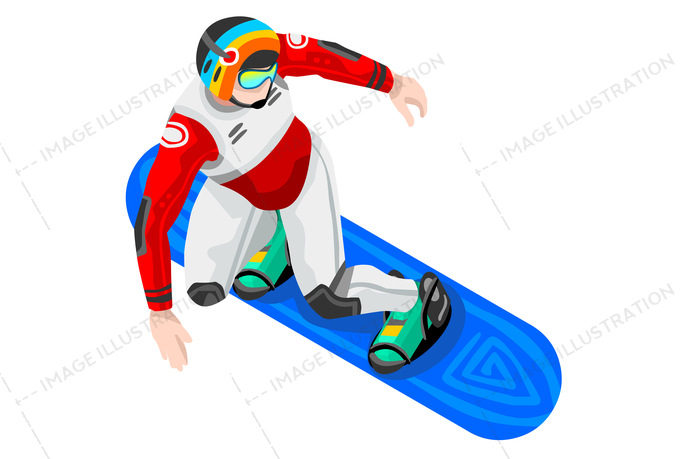 Snowboard winter sports image. Athlete clipart individual sport