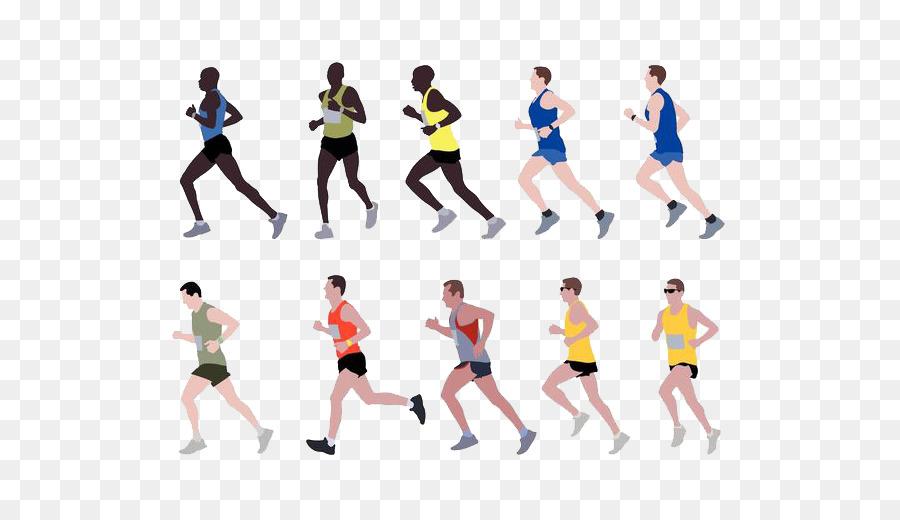 Marathon running clip art. Athlete clipart long distance races