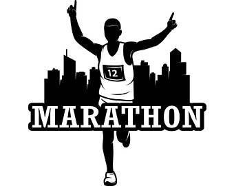Athlete clipart long distance races. Jogging svg etsy marathon
