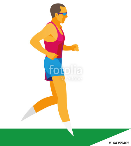 Professional is a specialist. Athlete clipart long distance races