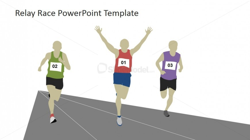 Three runners on the. Athlete clipart long distance races