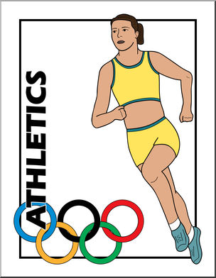 Clip art summer olympics. Athletic clipart olympic athlete