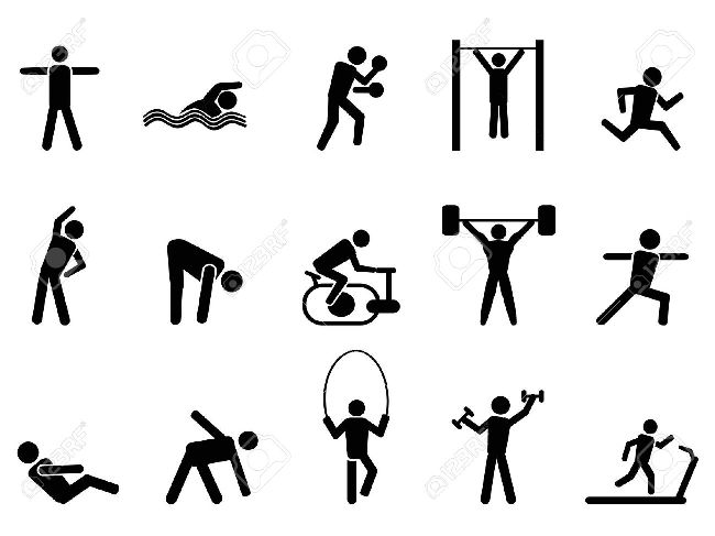 Exercise education fitness methods. Gym clipart physical wellness