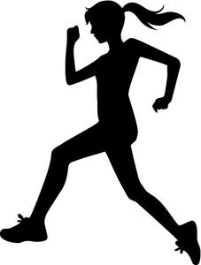 Image girl running or. Athletic clipart runner