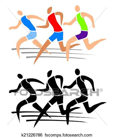 Athlete clipart race. Free download best on
