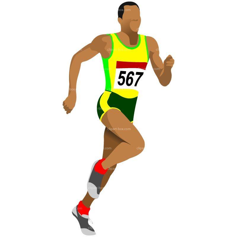 athlete clipart runner