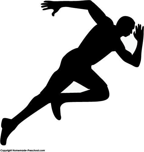 Track clipart silhouette. Fun and free ready