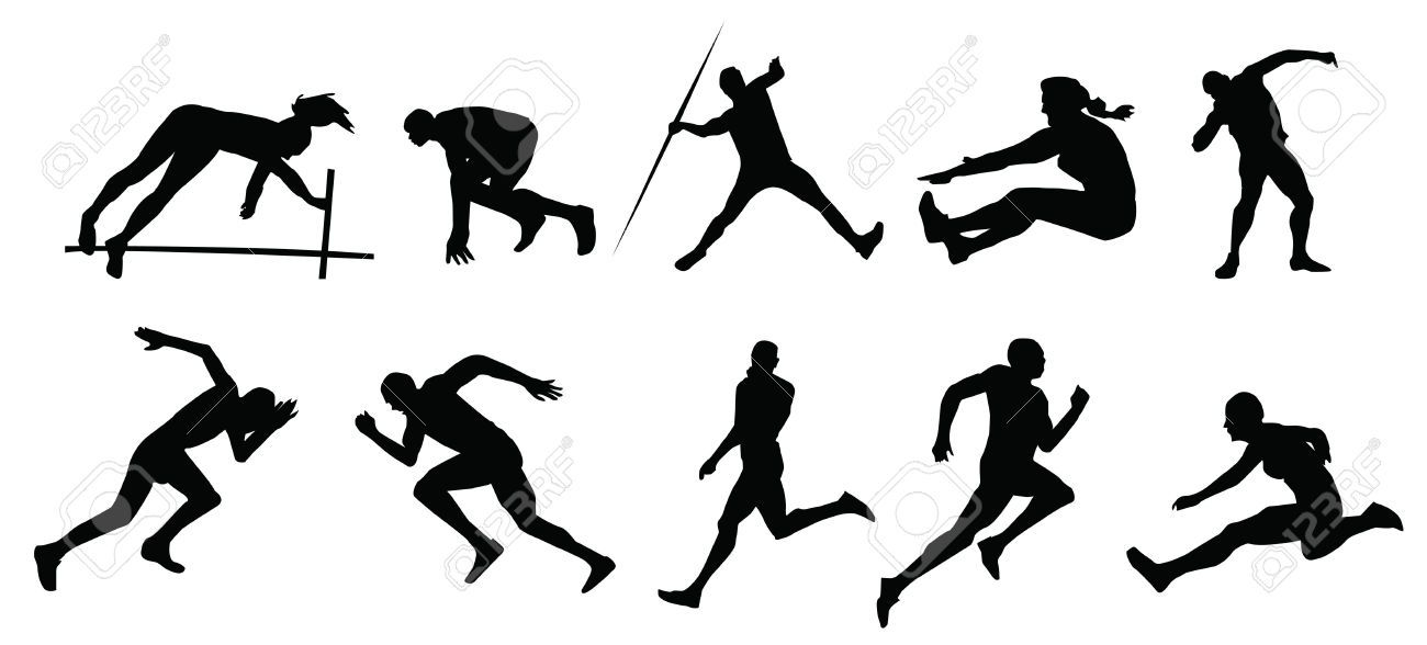 Free download silhouette for. Athletic clipart track and field