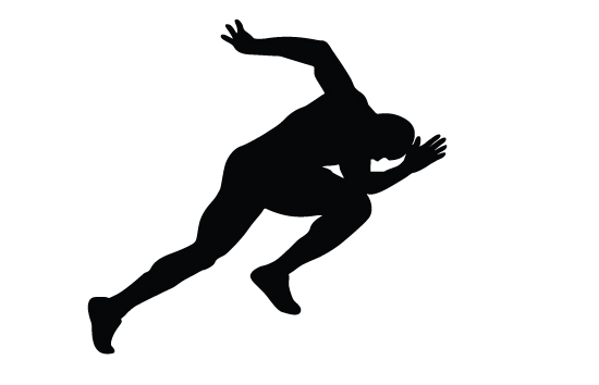 Athlete free download best. Athletic clipart silhouette