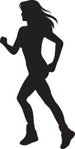 Athlete image of a. Athletic clipart silhouette