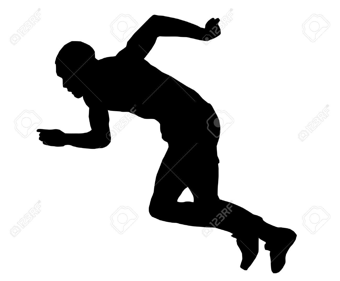 athlete clipart sprinter