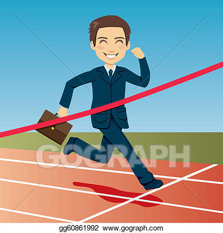 Athlete clipart success. Vector art successful businessman